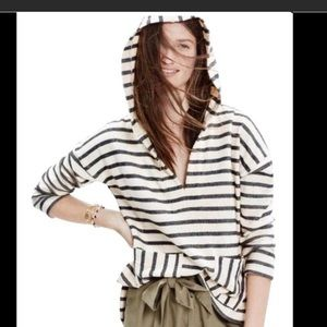 Madewell casual sweatshirt black stripes